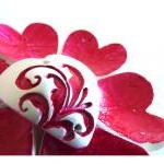 French red Valentines hearts - Set ..