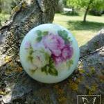 English rose vintage porcelain door..