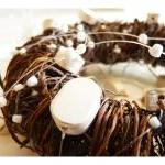 Pearl wedding mobile, wreath with p..