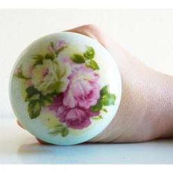English rose vintage porcelain door knob.